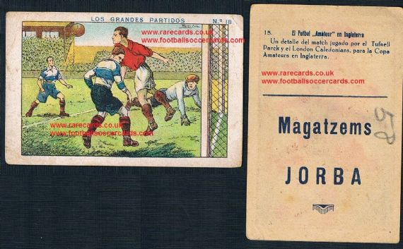 1923 London Caledonians v. Tufnell Park  on a Spanish trade card